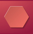 abstract creative image with paper hexagon vector image vector image