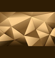 abstract gold polygonal and luxury pattern vector image