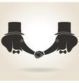 Abstract Handshake vector image vector image