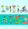 active casual transportation accessories biking vector image vector image