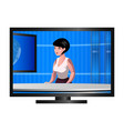 anchorwoman character on tv vector image vector image