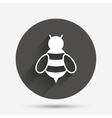 Bee sign icon Honeybee or apis symbol vector image vector image