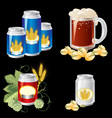 beer objects vector image vector image