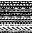 black and white geometrical tribal motifs vector image vector image