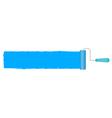 blue roller vector image