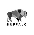 buffalo bison geometric polygonal logo icon vector image vector image