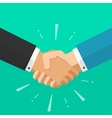 Business shaking hands symbol of success vector image