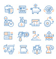 Business Startup Icons Collection vector image