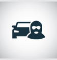car thief icon vector image vector image