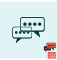 Chat icon isolated vector image vector image