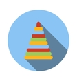Children colorful pyramid icon vector image vector image