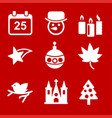 chrismtas icons set vector image