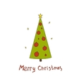 Christmas postcard with fir trees and a vector image vector image