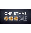 christmas sale background with gifts boxes with vector image vector image