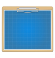Clipboard with blueprint vector image
