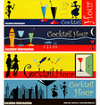 Cocktail Hour Web Banners vector image vector image