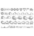 cute weather icons set vector image vector image