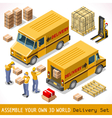 Delivery 06 Infographic Isometric vector image vector image