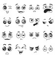 doodle emotions set happy and sad crying vector image vector image