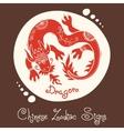 Dragon Chinese Zodiac Sign vector image vector image
