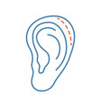 ear plastic surgery color icon vector image vector image
