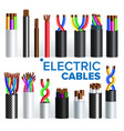 electric cables set copper wire vector image