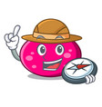 explorer ellipse mascot cartoon style vector image vector image