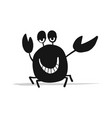 funny crab black silhouette for your design vector image