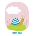 funny snail isolated vector image vector image