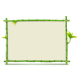 Green Bamboo Frame vector image vector image