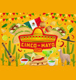 happy cinco de mayo mexican fiesta celebration vector image vector image