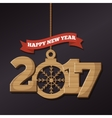 happy new year 2017 poster vector image