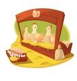 Hen And Eggs Cartoon Concept vector image vector image