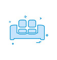 home furniture icon design vector image