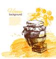 Honey background vector image vector image