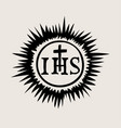 ihs catholic church icon vector image