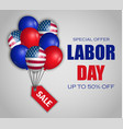 labor day special sale concept background vector image vector image