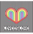 love is love vector image