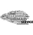 maid word cloud concept vector image