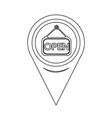 map pointer open icon vector image vector image