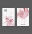 marble rose gold card flyer brochure invitation vector image vector image