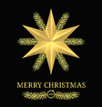merry christmas 2018 holiday banner vector image