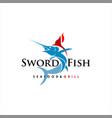 modern swordfish vector image vector image