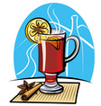 mulled wine vector image vector image