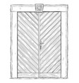 old wooden door or gate drawing or vector image