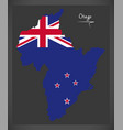 otago new zealand map with national flag vector image vector image