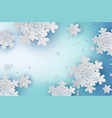 paper art of snowflakes for winter season with vector image