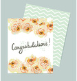 Pastel floral background Invitation card Wedding vector image