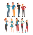 people think about something in different clothes vector image vector image