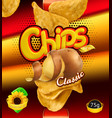 potato chips design packaging 3d template vector image vector image